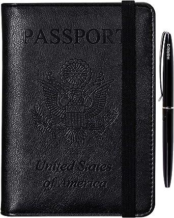 Travel Passport Holder Case Cover Overseas Organizer Rfid Blocking Card Protect