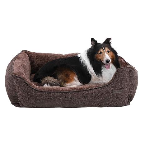 FEANDREA Cama para Perros, Sofá para Perros, Cesta para Perro Desmontable y Lavable a Máquina, Marrón, 90 x 75 x 25 cm PGW11CC