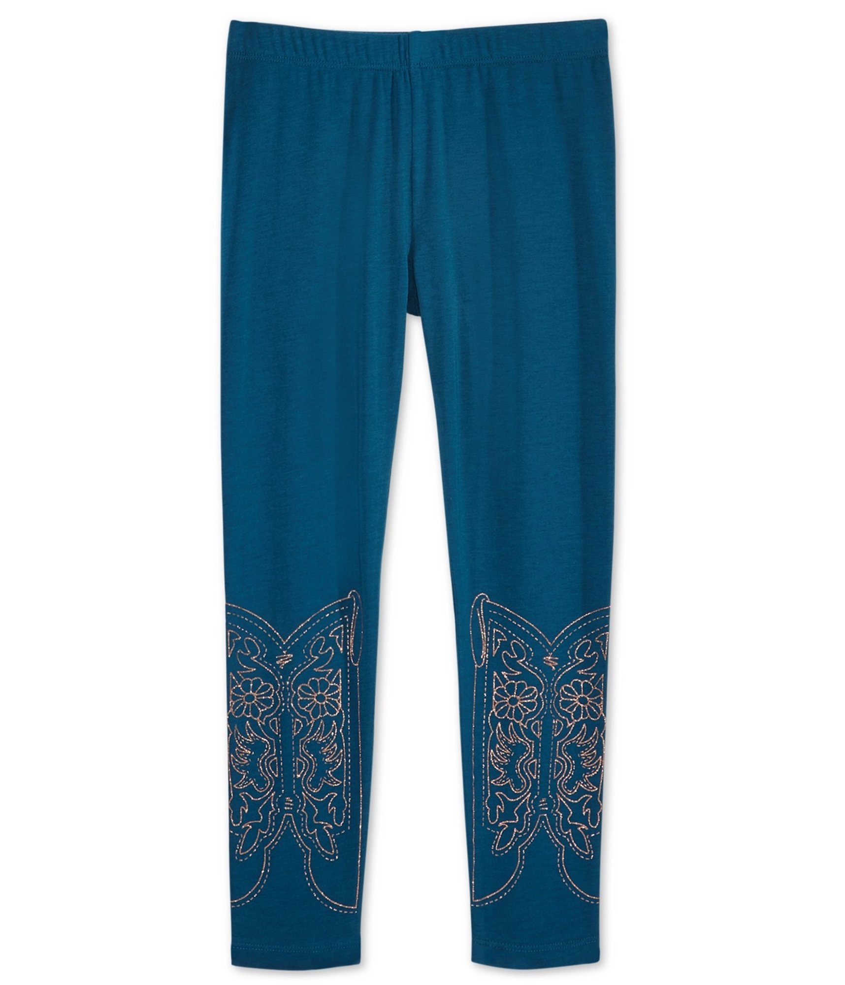 Epic Threads Girls Western Boot Casual Leggings Blue 6X/21 - Little Kids (4-7)