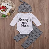 3PCS Toddler Kids Baby Boys Outfits Mommy's New Man
