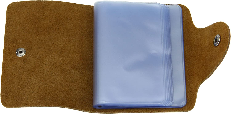 Liying /Étui carte de cr/édit Carte /à anneaux Carte /Étui portefeuille Cartes cartes /à anneaux Porte-cartes avec 26/Porte-cartes Cuir Rouge Rot