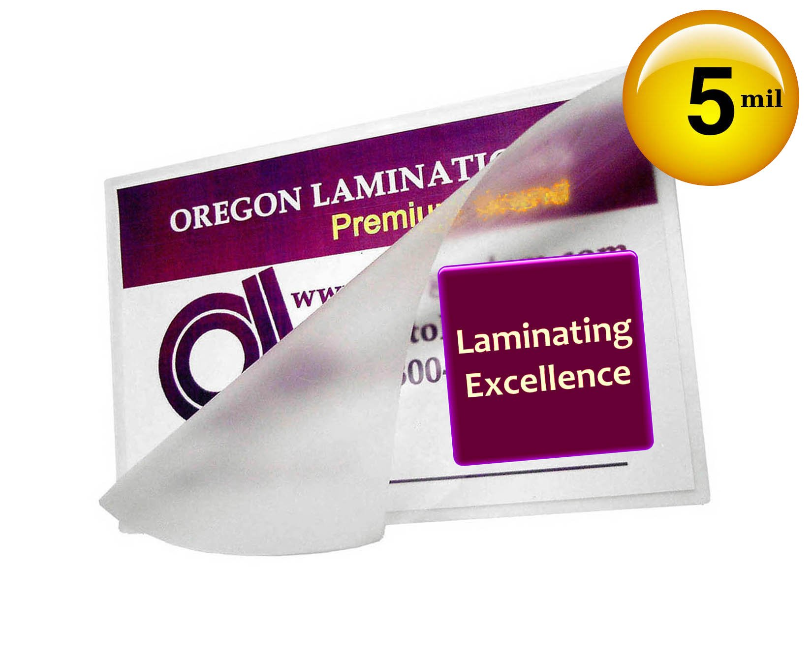 Qty 500 Small Index Card 3 x 5 Laminating Sleeves Hot Laminator Pouches 5 Mil by Oregon Lamination Premium