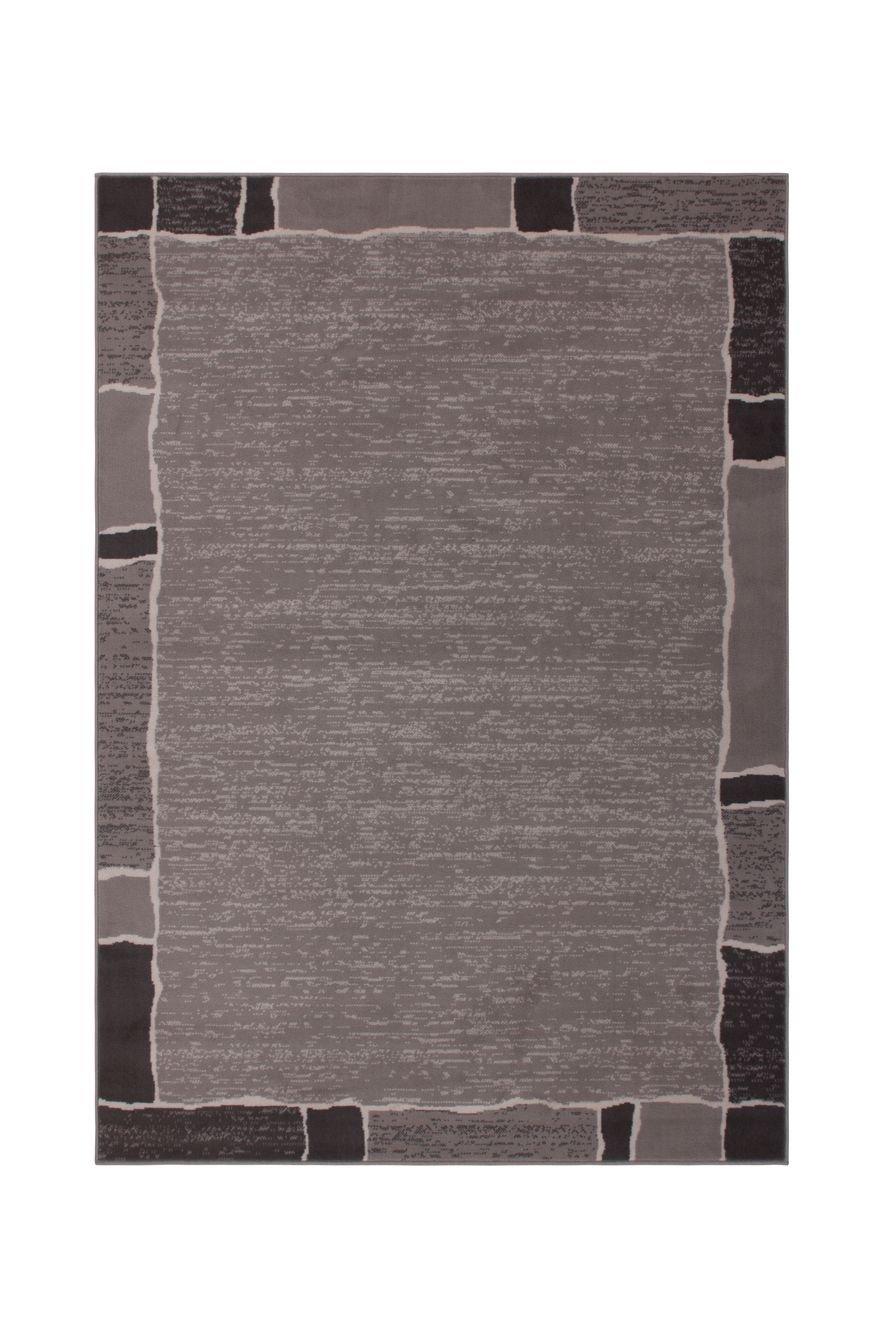 Teppich Teppich Teppich Wohnzimmer Carpet Geometrie Design USA - Oklahoma Rug Bordüre Muster Polypropylen 190x280 cm Grau Teppiche günstig online kaufen B07CCMVVZX Teppiche & Lufer bcbc62