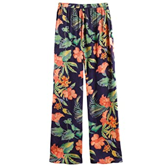 CATALOG CLASSICS Women s Hibiscus Satin Pajamas - Floral PJ Top and Lounge  Pants at Amazon Women s Clothing store  89fd9917b