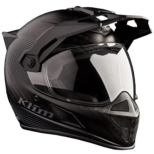 Krios Karbon Adventure Helmet with Transitions Lens ECE/DOT 2X Stealth Matte Black