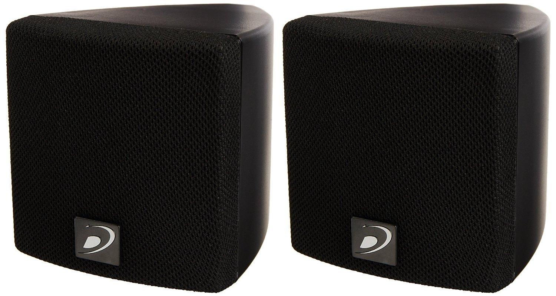 Dayton Audio SAT3B 3'' Cube Speaker Pair (Black) by Dayton Audio