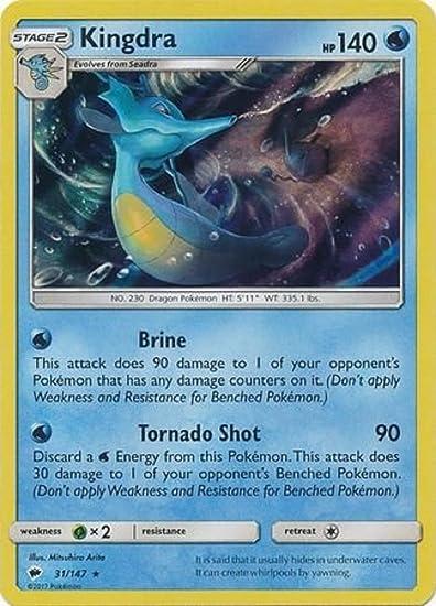 Kingdra HOLO 31//147 Burning Shadows M//NM Pokemon TCG Card