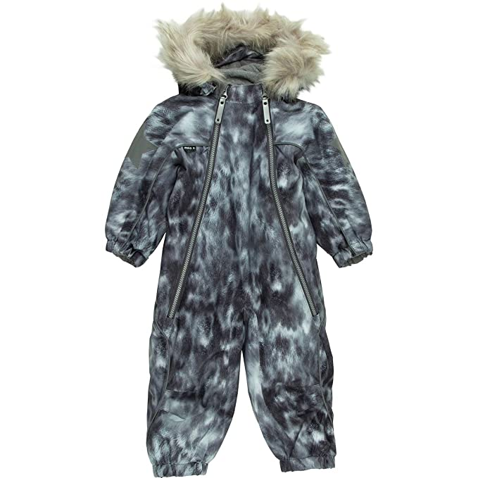 2ddf7edf1 Molo Pyxis Fur Snowsuit - Toddler Girls  Seal