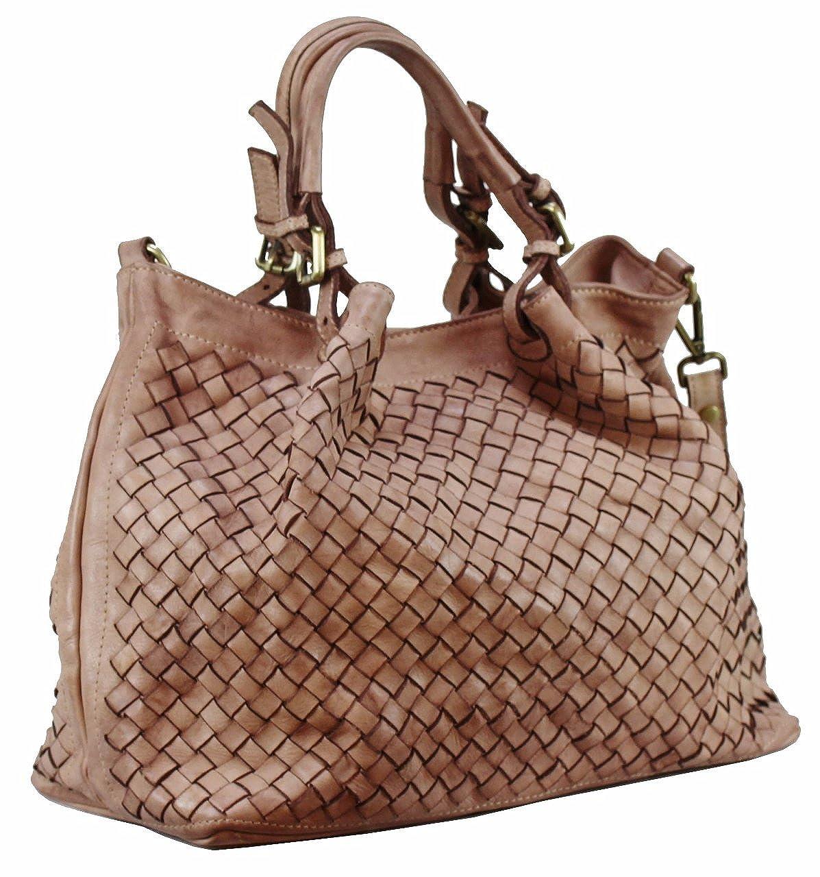 379f8642c736c B Z N A Bag Rene rose alt rosa Italy Designer Damen Handtasche  Schultertasche Tasche Schafsleder Shopper Neu  Amazon.de  Schuhe    Handtaschen