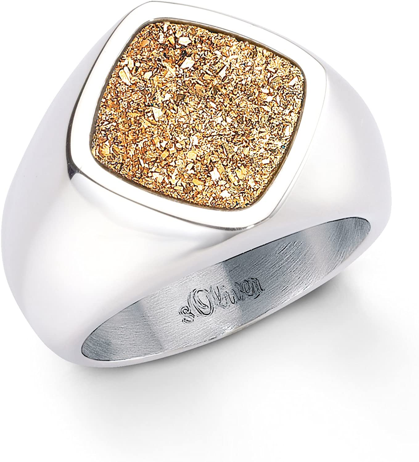 s.Oliver Jewels Herbst Winter Kollektion 2013 - Anillo de acero inoxidable con cuarzo, talla 18 (18,47 mm)