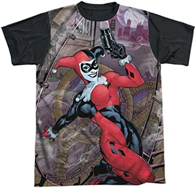 HARLEY QUINN SKETCH SUB 1-Sided Sublimated Big Print Poly Juniors T-Shirt
