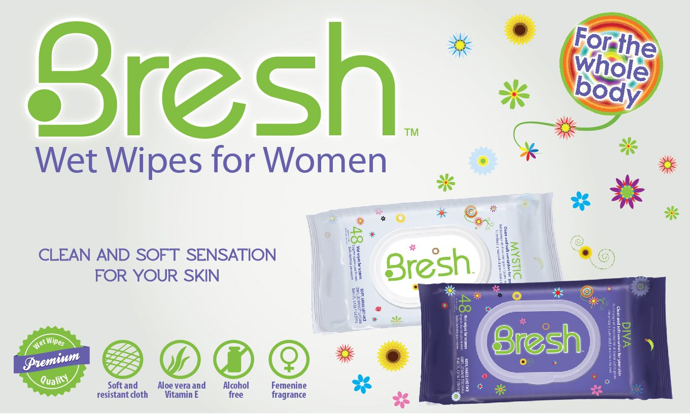 Bresh Diva Body Wipes for Women by BRESH, 3 Pack BioFinest Grape Seed Organic Oil for Hair, Face & Skin - 100% Pure, Natural, Cold Pressed - Certified Organic - Anti-Aging, Anti-Oxidant moisturizer - FREE E-Book (10ml)