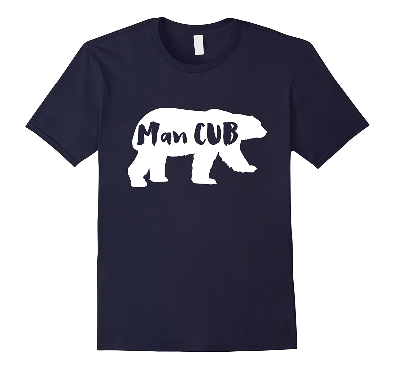 Man CUB Bear t shirt Mama and Papa Bear-TH
