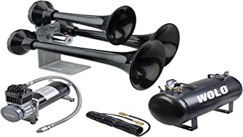 Wolo Model 847 Siberian Express Black ABS Triple Trumpet Air Horn Requires An On Board Air System