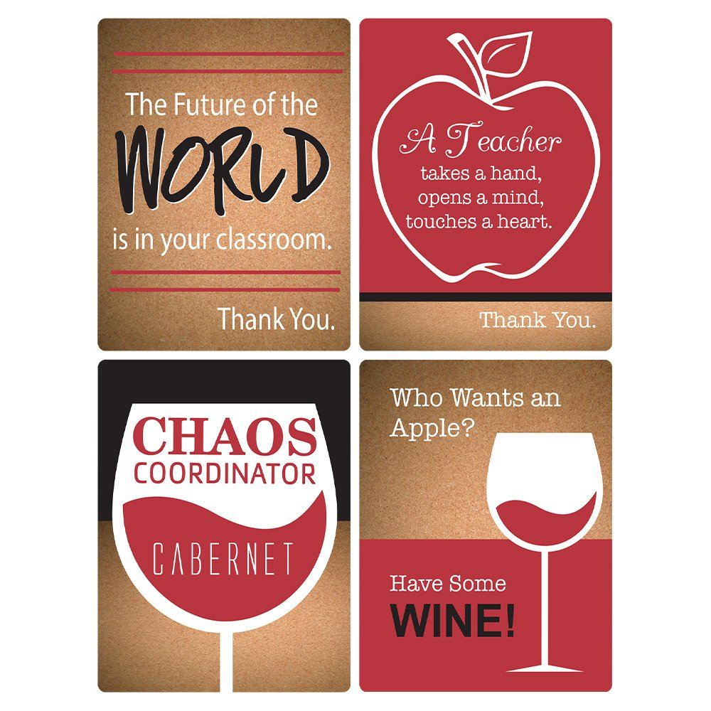 Amazon.com: Blue Orchards Teacher Appreciation Wine Bottle Label ...