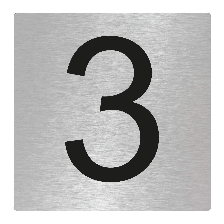 OFFORM I Door Number I Stainless Steel I3 I 85x85 mm I Nr.48303