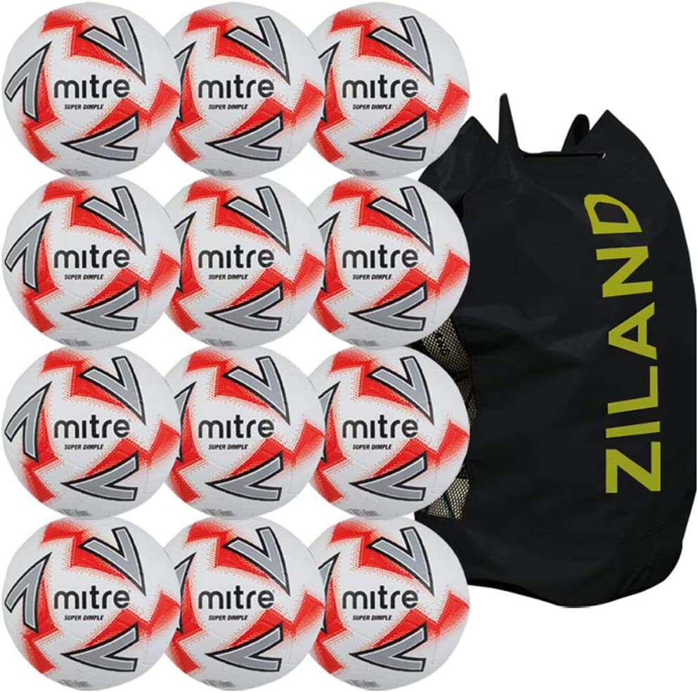Newitts Mitre Super Dimple - Balón de fútbol (12 Unidades): Amazon ...
