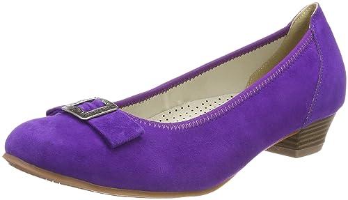 HIRSCHKOGEL 3004550, Zapatos de Tacón con Punta Cerrada para Mujer, Morado (Lila 060), 35 EU