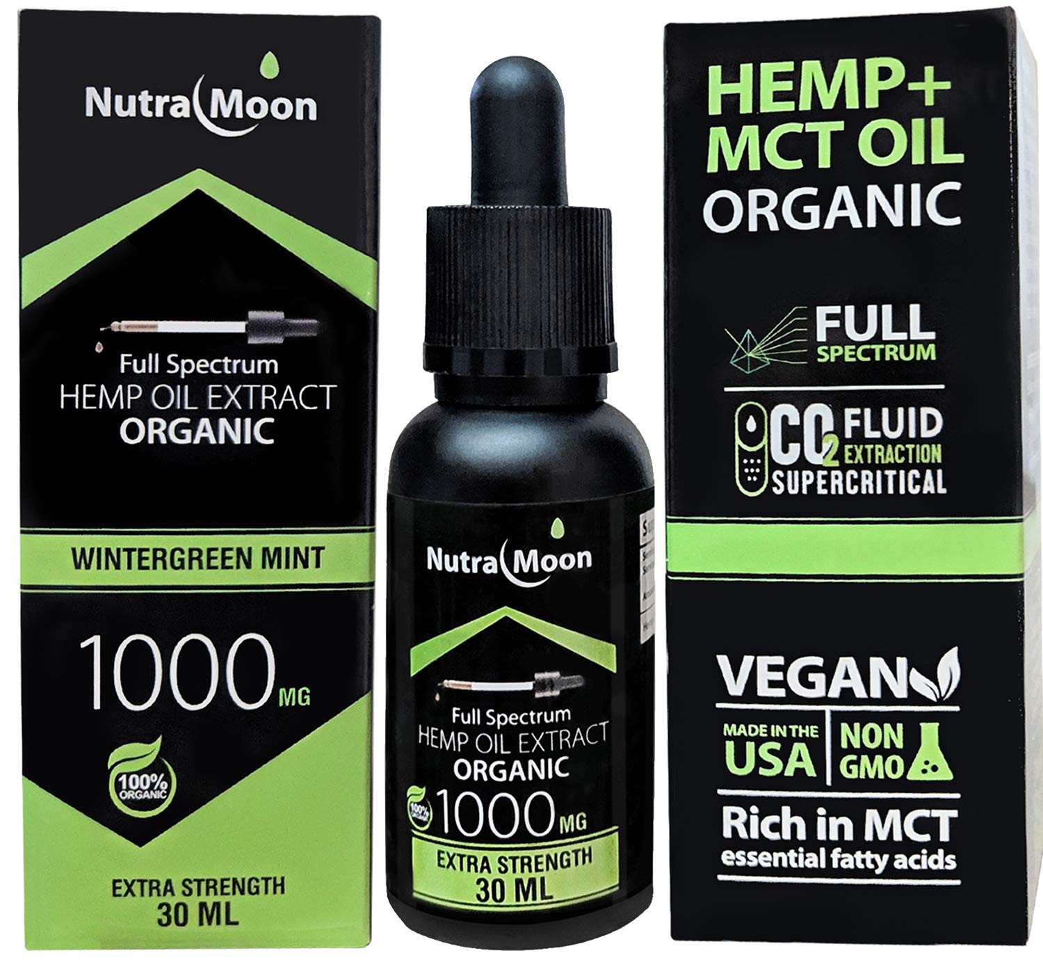 Amazon.com: (2 Pack) Hemp Oil for Pain Relief Anxiety Relief Stress Relief 2000MG Natural Organic Hemp Seed Full Spectrum Mint Rich in Organic MCT Oil Fatty ...