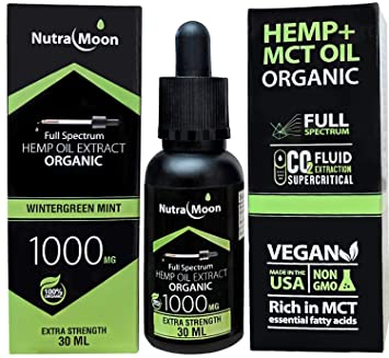(2 Pack) Hemp Oil for Pain Relief Anxiety Relief Stress Relief 2000MG Natural Organic