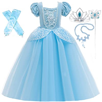 Romy's Collection Princess Cinderella Special Edition Blue Party Deluxe Costume Dress-Up Set: Clothing