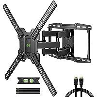 USX MOUNT Full Motion TV Wall Mount Max VESA 600x400mm for Most 42-75 inch Flat Screen TVs, TV Mount Bracket Dual Swivel…