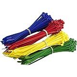 200Multi Lot de coloré Attaches de câble–Premium Rouge, Vert, bleu et jaune Tie Wraps–Haute Qualité solide en nylon Zip Ties par Gocableties, multicolore