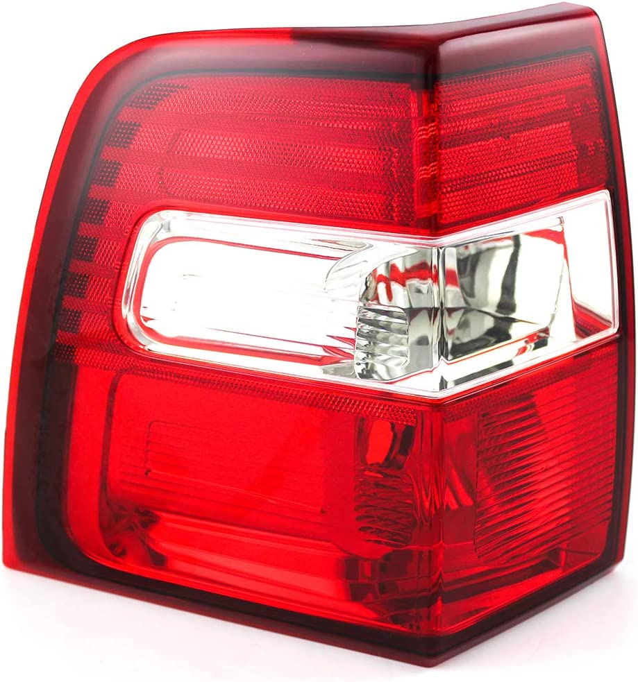 Left Side 7L1Z 13405 AA FO2800201 Replacement 2008 2009 2010 2011 2012 2013 for 2007-2014 Ford Expedition Rear Tail Light Lamp Assembly // Lens // Cover Driver Go-Parts