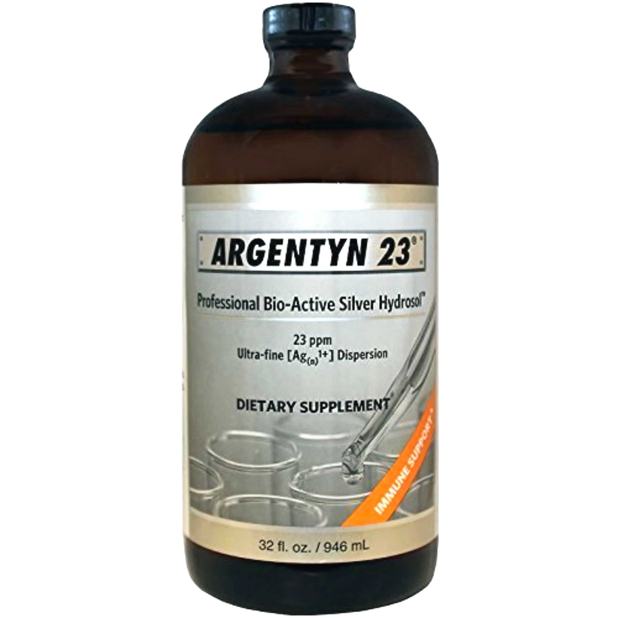 Argentyn 23 PPM Colloidal Silver Hydrosol (32 oz Value Bottle) by N-icorp