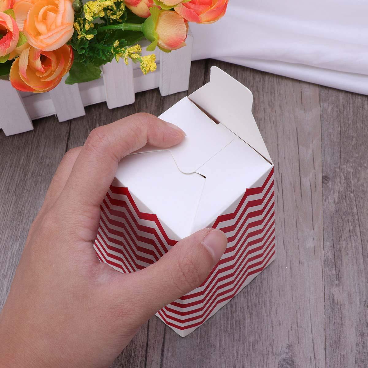 BESTONZON 30pcs Cake Holder Popcorn scatole Sacchetti Patatine Fritte scatole in Cartone Candy Contenitore per Snack Party