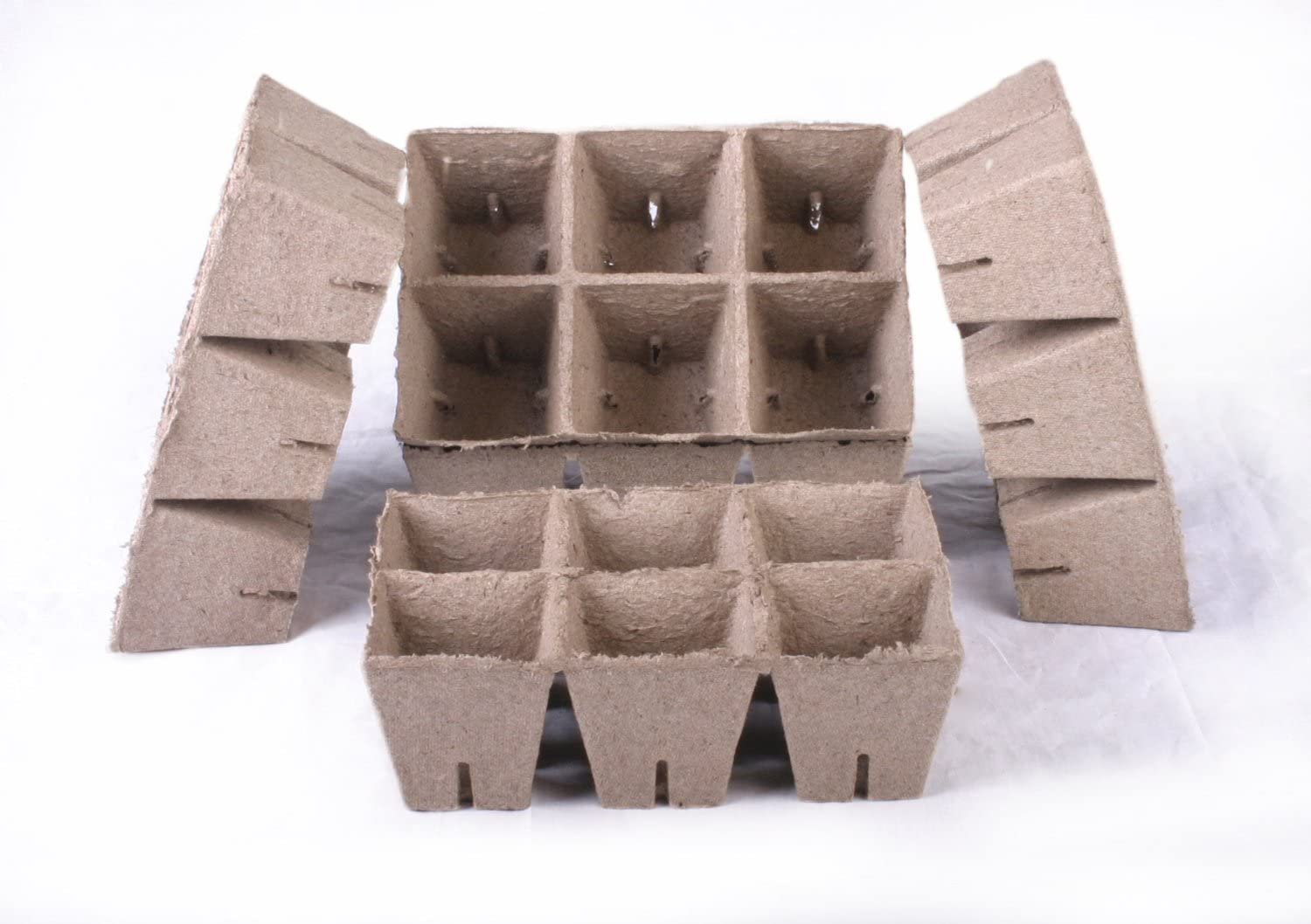 30 NEW Square Jiffy Peat Pots Size 3×3 – Strips Pots Are 3 Inch Square At the Top and 3 Inch Deep.