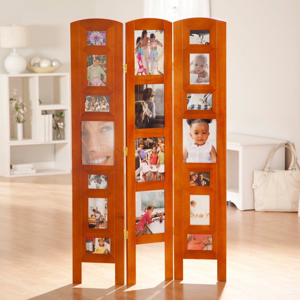Amazon.com: Memories Photo Frame Room Divider - 3 Panel: Kitchen ...