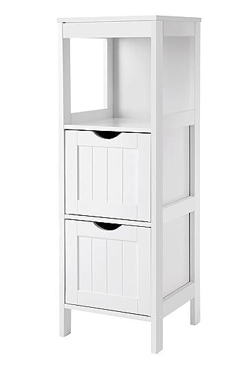 vasagle badkommode badschrank vielseitig einsetzbar badregal mit 4 etagen badezimmerschrank eckschrank medizinschrank aus holz weiss bbc42wt