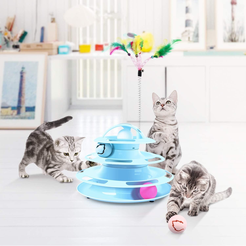2 pezzi Spot Atomic palla rimbalzante giocattolo per gatti