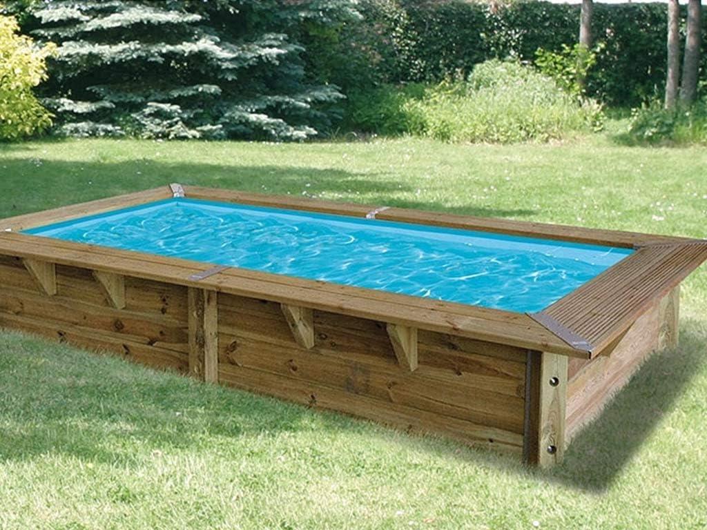 Ubbink piscina madera Azura 3, 50 x 2, 00 x 0, 71 m Liner Azul con ...