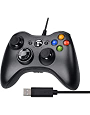 Xbox 360 Game Controller, Gamepad, Wired Joystick con 2.5m Cavo USB per PC Windows XP/7/8/10
