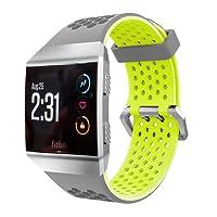 Bracelet, Yustar NEUF de rechange en silicone respirant Smart Bracelet de montre bracelet pour Fitbit Ionic fréquence cardiaque Fitness tracker