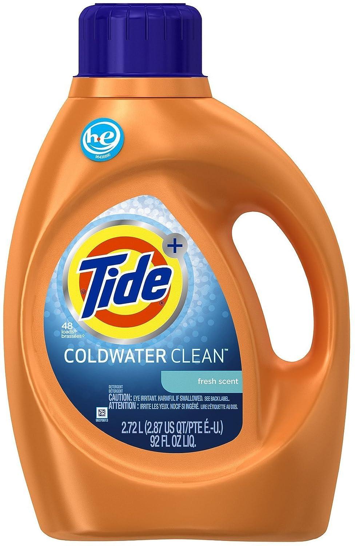 Tide Coldwater Clean High Efficiency Liquid Laundry Detergent, 92 Fl Oz
