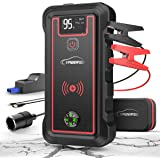 YABER Car Jump Starter, 2500A Peak 23800mAh Car Battery Jump Starter(All Gas or 8.0L Diesel) Portable Wireless Charger…