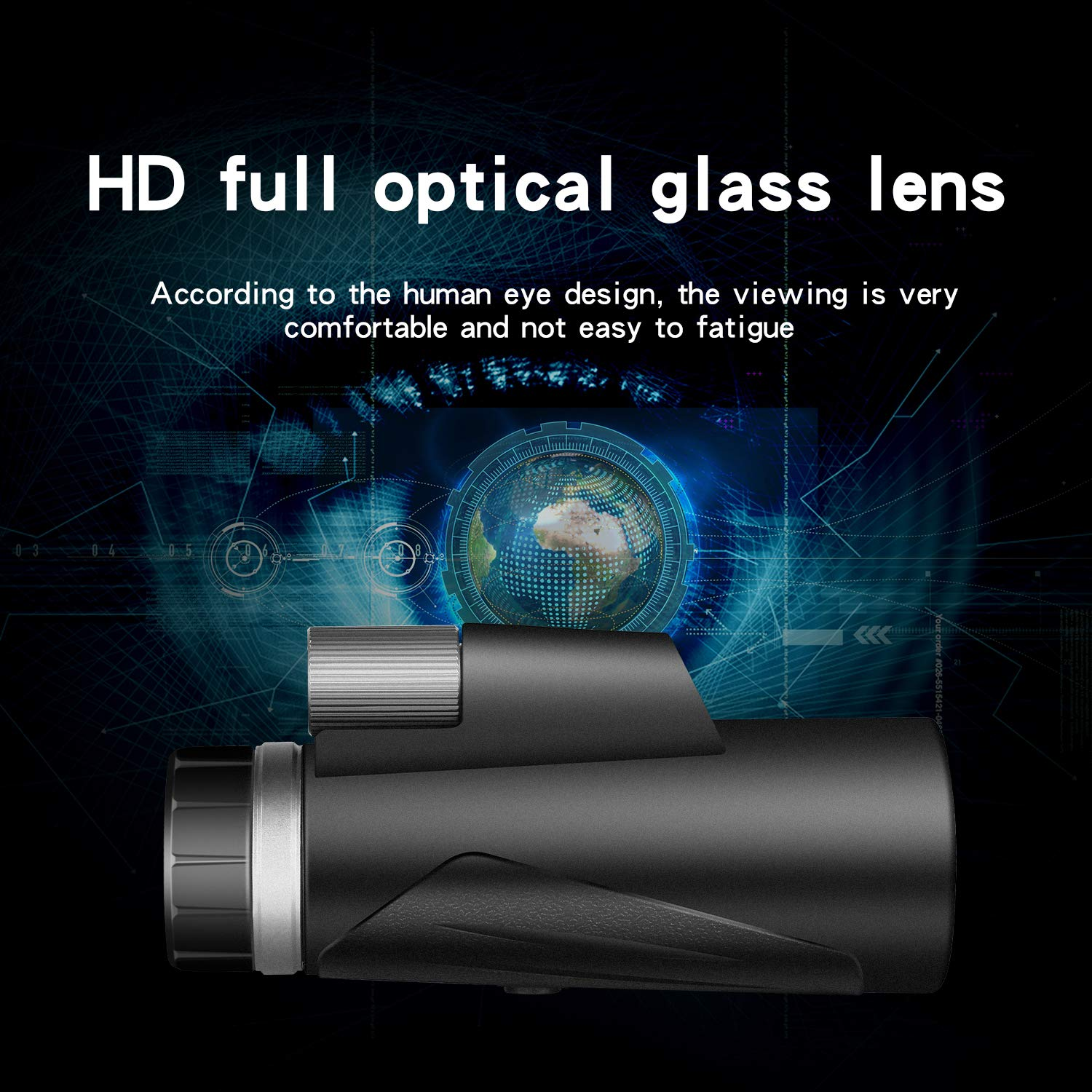 Monocular, 12X42 HD Monocular Telescope BAK4 Prism FMC Lens and Single Hand Focus for Bird Watching,Hunting,Camping and Traveling