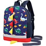 Kids Toddler Backpack Boys with Strap Dinosaur Blue Kindergarten Leash Bookbag …