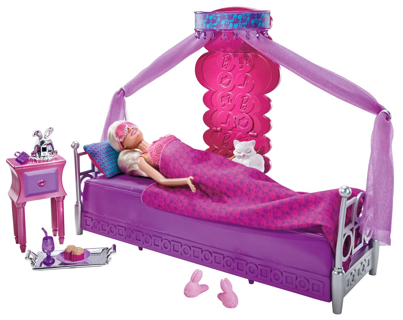 Barbie doll bedroom set - Amazon Com Barbie Bed To Breakfast Deluxe Bedroom And Doll Set Toys Games