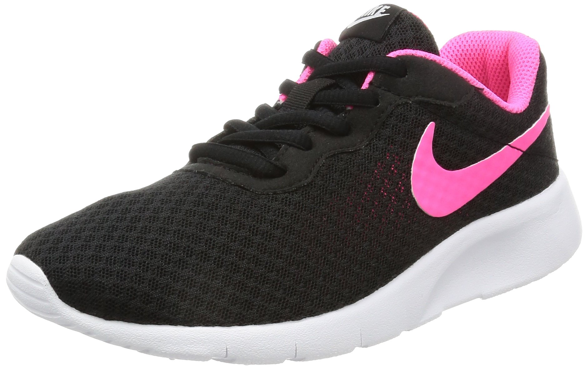 NIKE Kids Tanjun (GS) Black/Hyper Pink White Running Shoe 4 Kids US