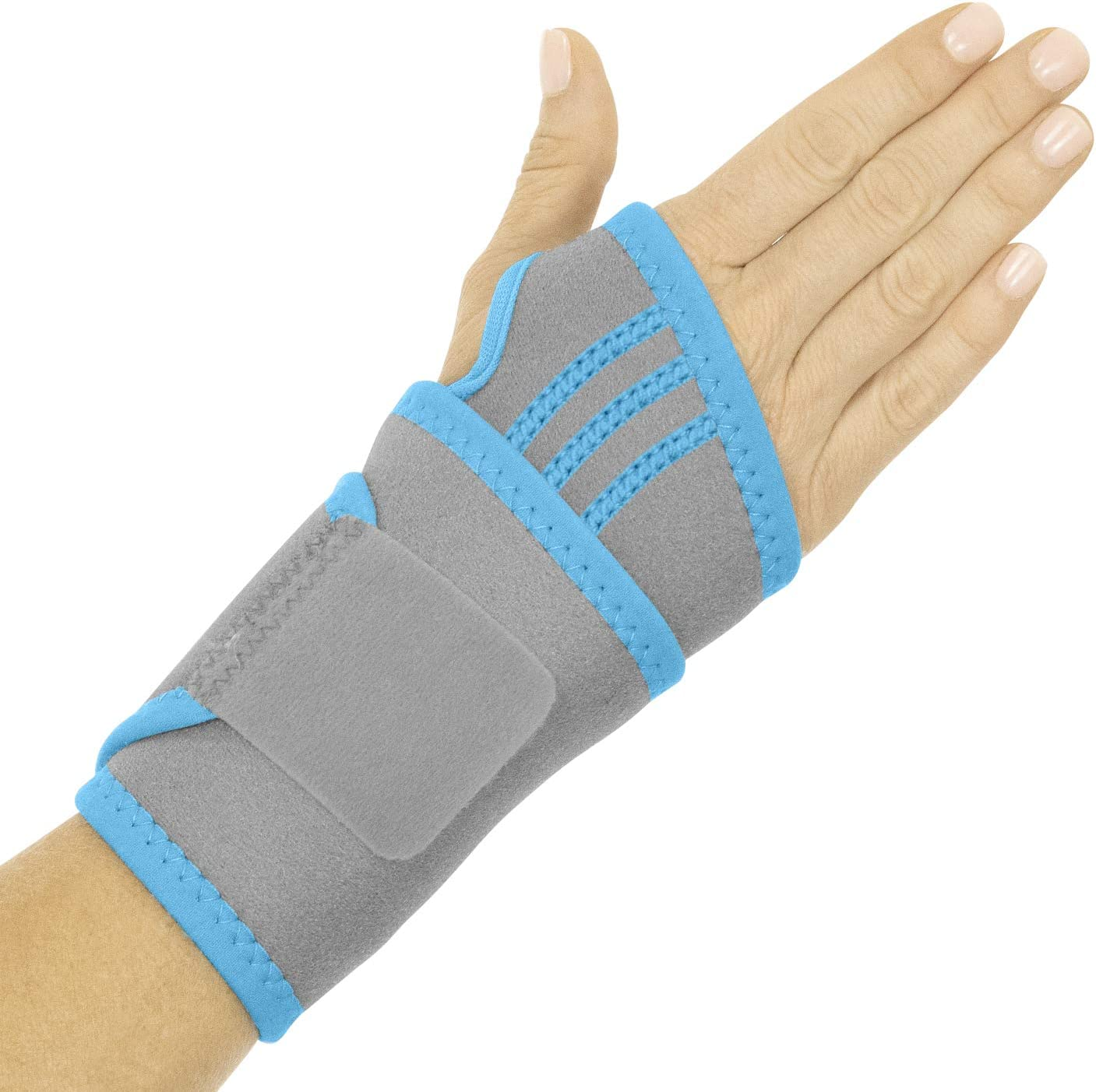 Arctic Flex Wrist Ice Pack - Refreezable Gel Compression Support - Flexible Hot/Cold Brace For Injuries, Rheumatoid, Tendinitis, Swelling and Carpal Tunnel - Reusable for Pain and Muscle Therapy