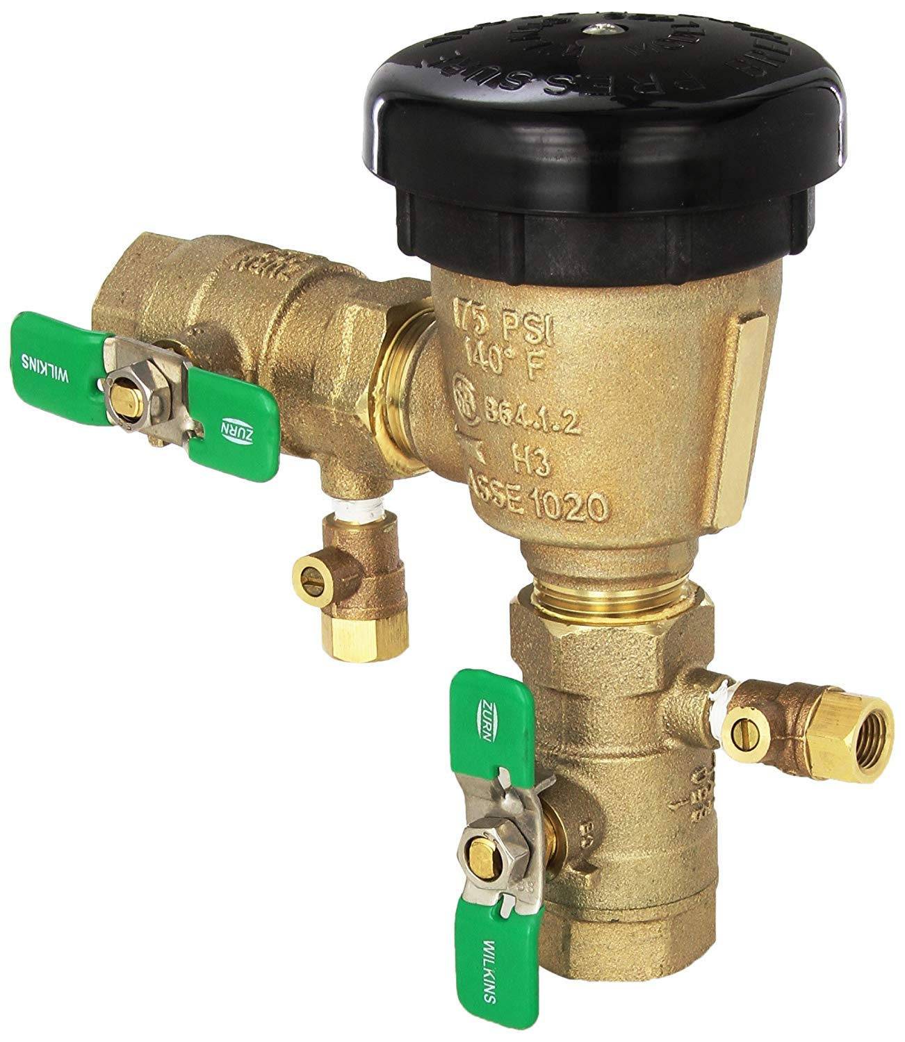 "Wilkins 3/4"" 420 Freeze Resistant PVB Pressure Vacuum Breaker Assembly Backflow Preventer 34-420 with Integral Anti-Freeze Relief Valve"