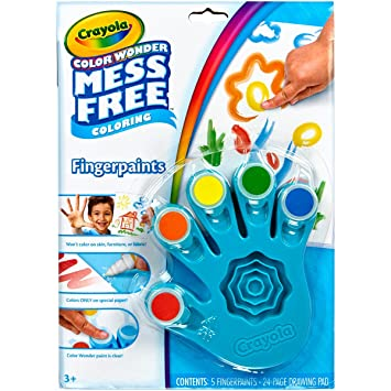 Crayola, Color Wonder Mess-Free Fingerpaints and Paper, Art Tools, Paint,  Paper, Great for Travel