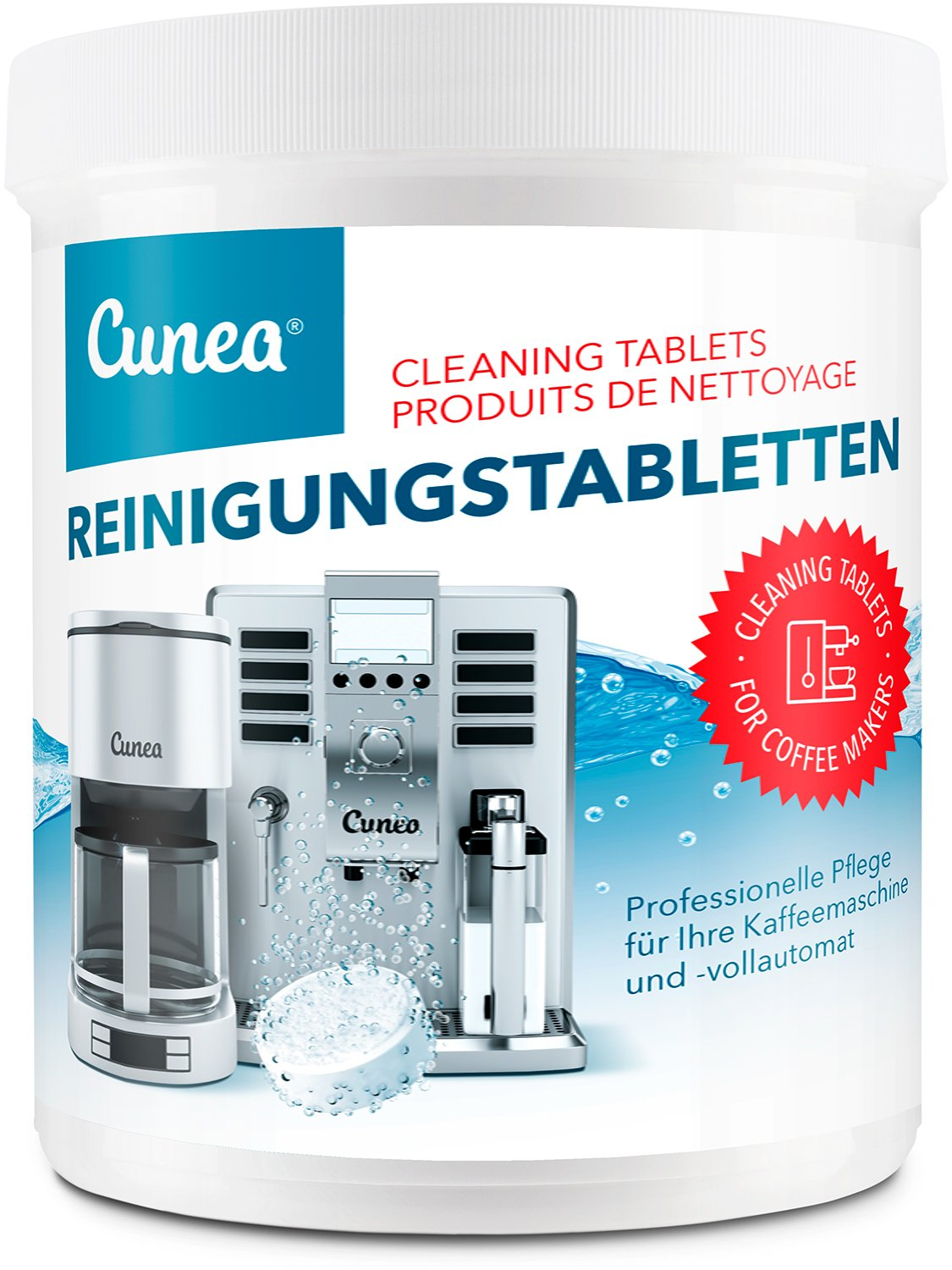 Cunea I 350x cleaning tablets I for coffee espresso machine I suitable with espresso machine coffee maker I hot water dispender I