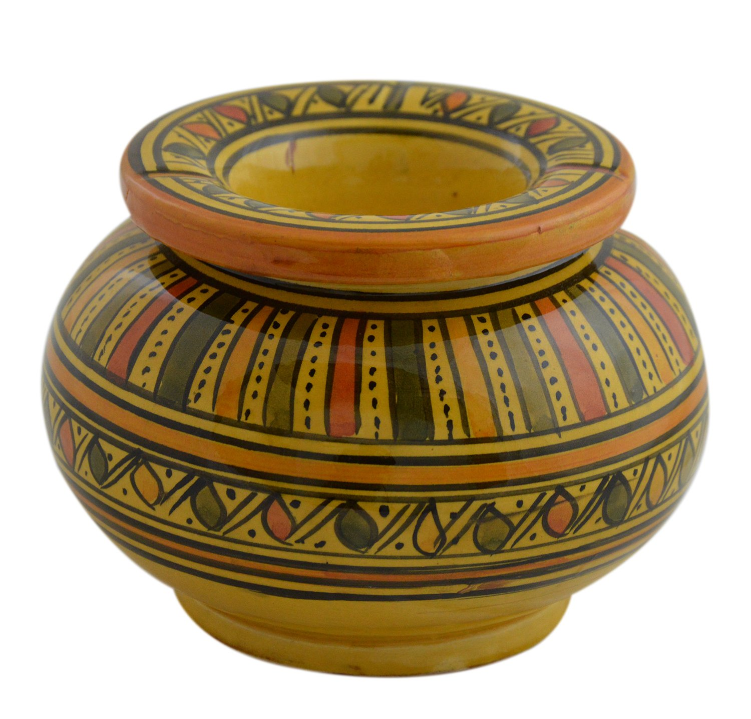 Ceramic Ashtrays Moroccan Handmade Smokeless Cigar Exquisite design with Vivid Colors X-large