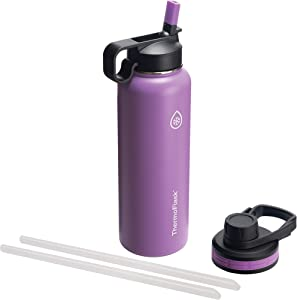 Thermoflask 50063 Double Stainless Steel Insulated Water Bottle, 40 oz, Plum