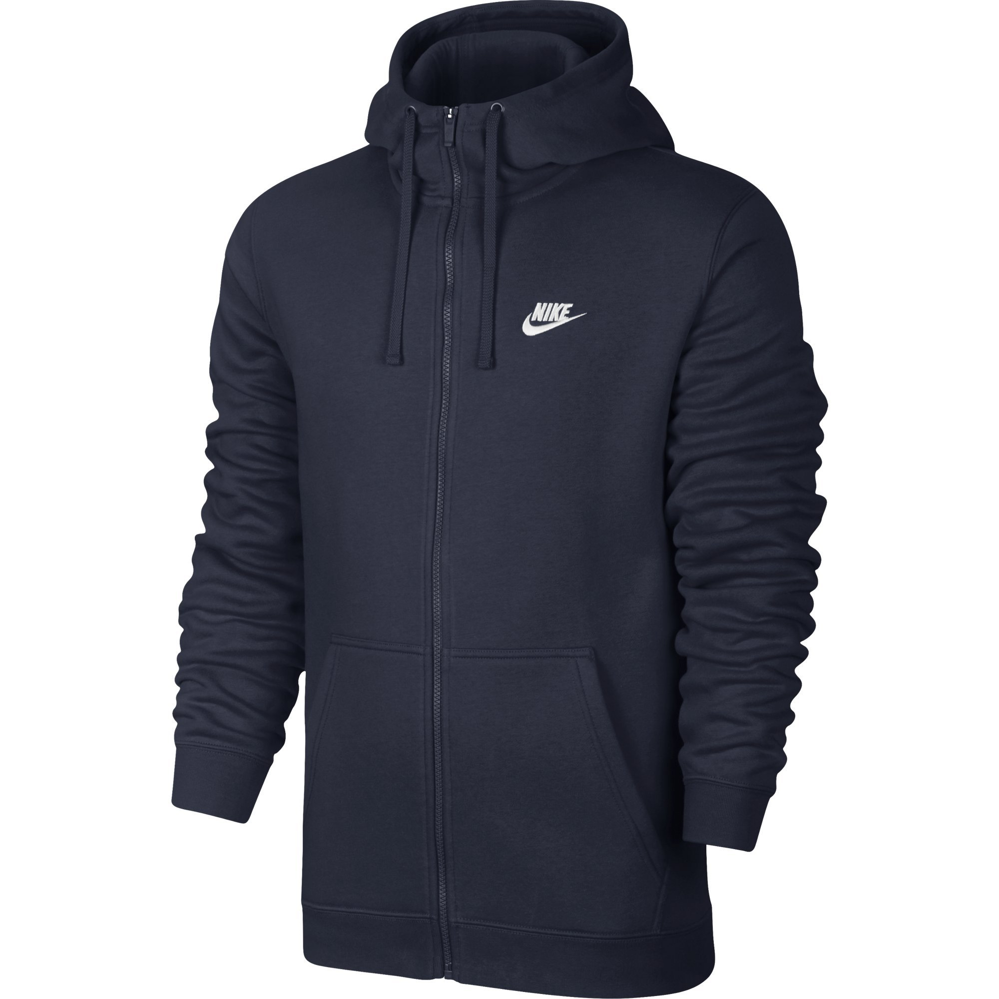 17b23de138a1 Nike M NSW HOODIE FZ FLC CLUB, Felpa Con Cappuccio Uomo, Blu Ossidiana/